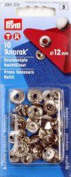 PRYM fém patent utántöltő (12 mm, ezüst)