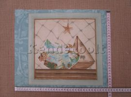 Tengerpart 1. (kb. 30*35 cm) textilblokk