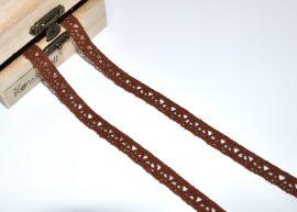 Barna (10 mm) horgolt csipke