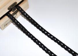 Fekete (10 mm) horgolt csipke