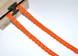 Narancs (10 mm) horgolt csipke