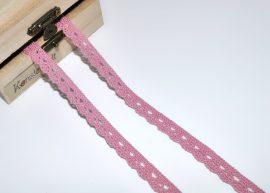Old pink (10 mm) horgolt csipke