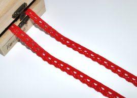 Piros (10 mm) horgolt csipke