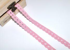 Pompadour rózsaszín (10 mm) horgolt csipke