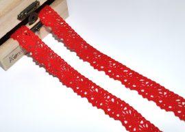 Piros (20 mm) horgolt csipke