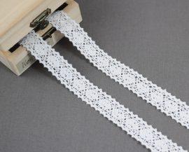 Fehér (20 mm) horgolt csipke
