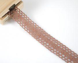 Ekrü (38 mm) horgolt csipke