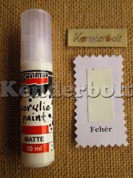 Fehér (matt), 20 ml
