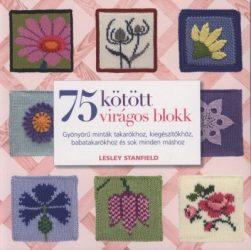 75 kötött virágos blokk