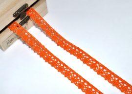Narancssárga (15 mm) horgolt csipke