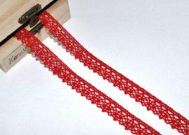 Piros (15 mm) horgolt csipke
