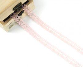 Rózsaszín (15 mm) horgolt csipke