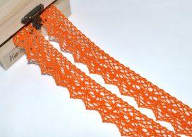 Narancssárga (20 mm) horgolt csipke