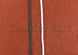 Kalapgumi 1,5 mm (fehér, fekete)