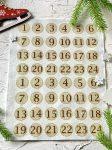 Adventi számok - Sima kerek (barna) karácsonyi barkácsfilc