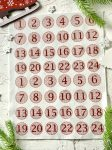 Adventi számok - Sima kerek (bordó) karácsonyi barkácsfilc