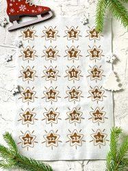 Adventi számok - Csillag (barna) karácsonyi barkácsfilc