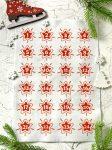 Adventi számok - Csillag (piros) karácsonyi barkácsfilc