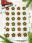 Adventi számok - Csillag (piros-zöld) karácsonyi barkácsfilc