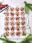 Adventi számok - Macis (körök) karácsonyi barkácsfilc