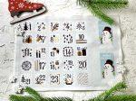 Adventi számok - Hóember (feketés) karácsonyi barkácsfilc