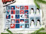 Adventi számok - Hóember (pirosas) karácsonyi barkácsfilc