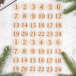 Adventi számok - Díszek karácsonyi barkácsfilc