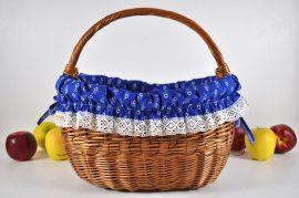 Kosárbélés - kékfestő mintájú (margaréta - királykék)