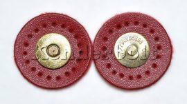 Mágneszár, Műbőr kör (piros)