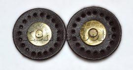 Mágneszár, Műbőr kör (sötétbarna)