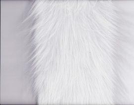 Manószakáll (hosszú szálú műszőrme), fehér (méterben)