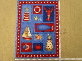 Világítótorony 2. (kb. 51*38 cm) textilblokk
